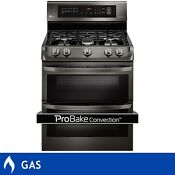 Lg 6 9cuft Gas Double Oven Range Probake Convection Technology Stainless Steel