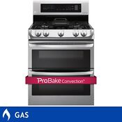 Lg 6 9cuft Home Stainless Steel Probake Convection Gas Range Double Oven Broiler