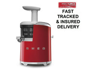 Smeg Sjf01rduk Red Slow Juicer 50 S Style Retro 2 Year Guarantee Recipe Book