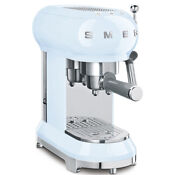 Smeg Ecf01pbuk Pastel Blue Coffee Machine 2 Year Warranty Brand New