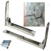 Stainless Steel Microwave Oven Wall Mount Bracket Foldable Stretch Shelf Rack