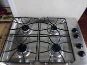 Ge 30 Stainless Steel Four Burner Gas Flush Mount Drop In Cooktop