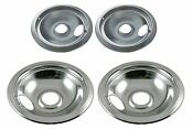 Drip Pan Set Chrome For Whirlpool Frigidaire Kenmore Range Oven 2 X 316048413