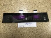 Kitchenaid Whirlpool Oven Microwave Touch Control Panel Glass Black 8303882