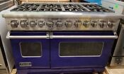 Viking 7 Series Dual Fuel 48 Inch Stainless Range Made In 2017 Cobalt Blue