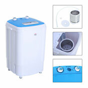 Washing Machine Electric Laundry Washer Wash And Spin Blue Us