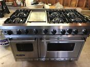 Viking 48 Vgsc4876gss Range W Hood 6 Burners And Griddle Local Pickup Ctnynj