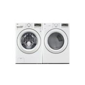 Lg Front Load Washer And Electric Dryer Pair Wm3180cw Dle3180w White