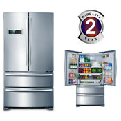 French Style Refrigerator Fridge Freezer Stainless Steel Home Kitchen 20 7 Cu Ft