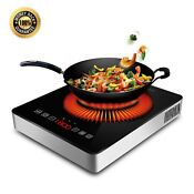 1800w Portable Induction Cooktop With Ceramic Glass Plate Design Stainless St