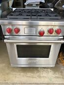 Wolf Range Oven Preowned Excellent Condition 30 Dual Fuel Range 4 Burners