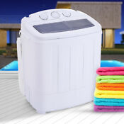 Portable Mini Compact Twin Tub Washing Machine Washer Spin Spinner