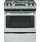 Ge Js250rfss 30 Slide In Front Control Electric Range Brand New