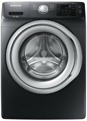 Samsung 4 5 Cu Ft High Efficiency Front Load Washer In Black Stainless Steel