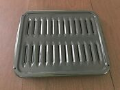 Oven Broiler Drip Pan Grill Rack Gray Speckled Enameled 16 X 13