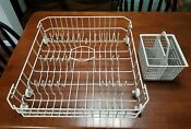 Genuine Oem Wd28x10284 Ge Dishwasher Lower Rack Assembly And Basket Wd28x265