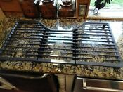 New Ge Profile Series 36 Gas Cooktop Grates Only Set Of 3 Cast Iron Grates