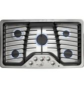 Ge Pgp976setss Profile Series 36 Built In Gas Cooktop