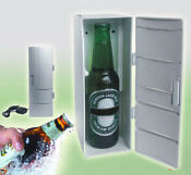 Mini Usb Fridge Portable Drinks Cooler Refrigerator For Drink Cans Silver