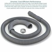 10 Ft Premium Replacement Washing Machine Drain Hose Heavy Duty Water Support