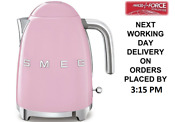 Smeg Klf03pkuk Pink 50 S Retro Style Kettle With Limescale Filter 3000 Watt