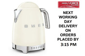 Smeg Klf04cruk Cream Retro 50 S Style Kettle With Variable Temperature 1 7l New