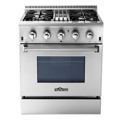 Thor 30 Stainless Steel Dual Fuel Range Oven 4 2 Cu Ft Single Stove Baking Cook
