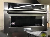 Kitchenaid Kmbp107ebs 27 Black Stainless Built In Microwave Oven