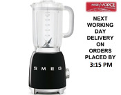 Smeg Blf01bluk Black Bpa Free Blender 800 Watt 1 5 Litres 2 Year Guarantee