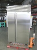 Sub Zero 48 Model 632 Perfect Stainless Steel Built In Refrigerator 42 Off Msrp