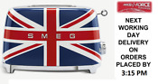 Smeg Tsf01ujuk Union Jack 50s Retro Style 2 Slice Toaster 2 Year Guarantee