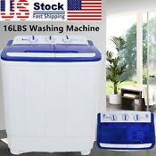 16lbs Portable Washing Machine Compact Twin Tub Washer Laundry Us Standard
