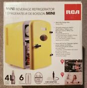 Rca Mini Compact Beverage Refrigerator 6 Can Yellow Rmis129
