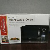 Sunbeam Microwave Oven 900 Watts 0 9 Cubic Feet Black New
