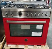 New Out Of Box Bertazzoni 36 Dual Fuel Range In Rosso Red