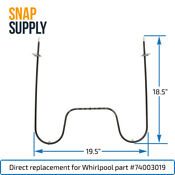 Snap Supply Bake Element For Whirlpool Directly Replaces 74003019