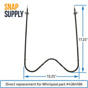 Snap Supply Bake Element For Whirlpool Directly Replaces 4364186