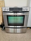 Jenn Air Jes9750bab 30 Electric Downdraft Range Stove Excellent Conditions