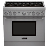 Thermador Prg366gh 36 Pro Style Gas Range With Convection Display Very Clean