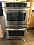 Ge Profile Stainless Steel Double Wall Oven Electric Used