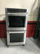 Kitchenaid 27 Stainless Steel Electric Double Convection Wall Oven Kode507ess