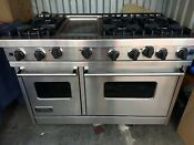 Viking 48 Pro Range Stove Vgic485 6gss 6 Burners Griddle Stainless Ng