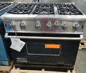 New Out Of Box Viking 36 Range 6 Open Burners Large Oven In Black