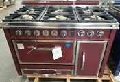 Viking La Cornue Tuscany Series 48 Dual Fuel Range 6 Gas Burners Bordeaux Color