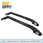 Snap Supply Handle Set Black For Frigidaire 5304506471