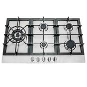 30 In Gas Cooktop Open Box With 5 Burners Metal Knobs Stainless Steel