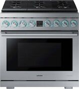 Samsung Chef Collection Ny36r9966ps 36 Inch Smart Slide In Duel Fuel Pro Range