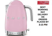 Smeg Klf04pkuk Pink Retro 50 S Style Kettle With Variable Temperature 1 7l New