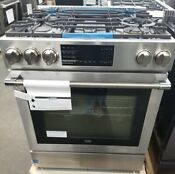 Beko 30 Inch Slide In Gas Range W 5 Burners And Warming Drawer
