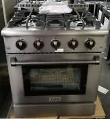 New Out Of Box Thor Kitchen 30 Black Stainless Steel Range Natural Gas